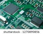 microprocessor closeup photo   Shutterstock . vector #1270890856