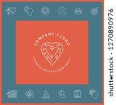 line symbol   logo   a heart... | Shutterstock .eps vector #1270890976