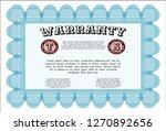 light blue warranty template....   Shutterstock .eps vector #1270892656