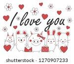 cute animals vector    Shutterstock .eps vector #1270907233