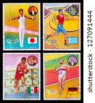 paraguay   circa 1977  a set of ...   Shutterstock . vector #127091444