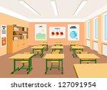 vector illustration of an empty ... | Shutterstock .eps vector #127091954