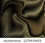 abstract gold luxurious wave... | Shutterstock .eps vector #1270919653