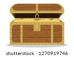 treasure chest with pirate... | Shutterstock .eps vector #1270919746
