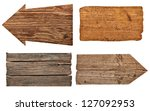 collection of various  empty... | Shutterstock . vector #127092953