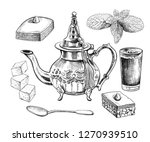 traditional oriental teapot... | Shutterstock .eps vector #1270939510