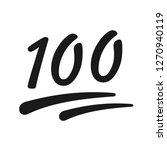 one hundred vector icon | Shutterstock .eps vector #1270940119