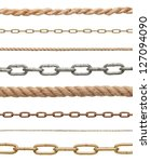 collection of  chains and ropes ... | Shutterstock . vector #127094090