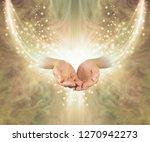 golden healing resonance   ... | Shutterstock . vector #1270942273