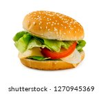 beautiful vegetarian... | Shutterstock . vector #1270945369