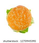 classic beautiful burger bun... | Shutterstock . vector #1270945390