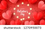 happy valentine's day holiday... | Shutterstock .eps vector #1270950073