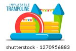 inflatable trampoline vector.... | Shutterstock .eps vector #1270956883