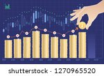 building a trend of a price... | Shutterstock .eps vector #1270965520