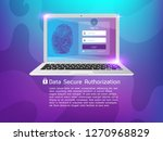 data secure authorization ... | Shutterstock .eps vector #1270968829