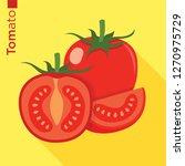 tomato fruit vector flat style   Shutterstock .eps vector #1270975729