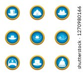attire icons set. flat set of 9 ... | Shutterstock . vector #1270980166