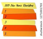 new year resolutions list... | Shutterstock .eps vector #1271001703