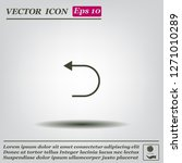 undo icon  back arrow symbol | Shutterstock .eps vector #1271010289