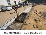 brazier on the beach of the... | Shutterstock . vector #1271015779