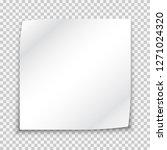 blank white sticker mockup ... | Shutterstock .eps vector #1271024320