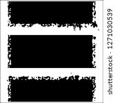 set of grunge textures. black... | Shutterstock .eps vector #1271030539