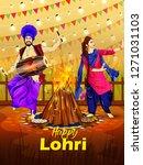 punjabi festival lohri... | Shutterstock .eps vector #1271031103