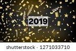 2019 christmas tinsel confetti  ... | Shutterstock .eps vector #1271033710