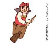 baba yaga  slavic folklore... | Shutterstock .eps vector #1271036140