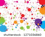 abstract vector color...   Shutterstock .eps vector #1271036860