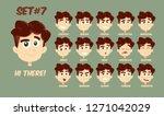 flat cartoon little girl with... | Shutterstock .eps vector #1271042029
