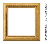 golden frame for paintings ... | Shutterstock . vector #1271054230