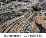 Boulders Lying On Slab Of Mult...