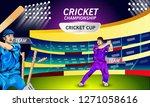 illustration of stadium of... | Shutterstock .eps vector #1271058616