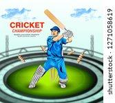 illustration of stadium of... | Shutterstock .eps vector #1271058619