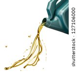 pouring engine oil from its... | Shutterstock . vector #127106000