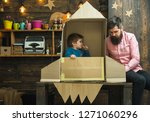 boy play with dad  father ...   Shutterstock . vector #1271060296