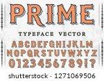 font script typeface vector...   Shutterstock .eps vector #1271069506