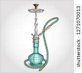 illustration  hookah with... | Shutterstock . vector #1271070013