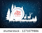abstract winter design with... | Shutterstock .eps vector #1271079886