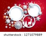abstract winter design with... | Shutterstock .eps vector #1271079889