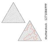 difficult triangular labyrinth. ... | Shutterstock .eps vector #1271086999