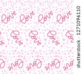 pattern of the lettering doodle ... | Shutterstock .eps vector #1271096110