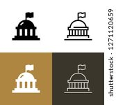 government capital icon set | Shutterstock .eps vector #1271120659