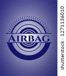 airbag emblem with denim high... | Shutterstock .eps vector #1271136010