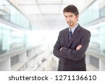 happy business man portrait at...   Shutterstock . vector #1271136610