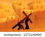 biblical vector illustration... | Shutterstock .eps vector #1271140900