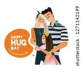 vector happy hug day concept... | Shutterstock .eps vector #1271142199