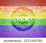 taxicab emblem on mosaic... | Shutterstock .eps vector #1271142703