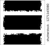 set of grunge textures on white ... | Shutterstock .eps vector #1271165080